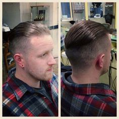 fade hairstyle back pomade