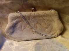 Vintage White Beaded Bag by RESTYLE576 on Etsy, $22.00