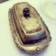 Antique sterling butter dish. Family heirloom.