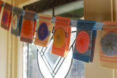 Fabric garland - Guirnalda de tela
