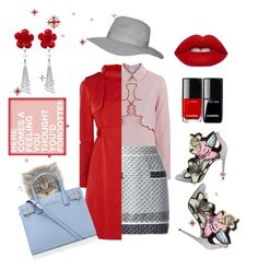 """Red & Pink..chic!"" by explorer-14490085059 ❤ liked on Polyvore featuring VIVETTA, Chanel, Lime Crime, Karen Millen, Allurez, Topshop, Pierre Hardy, WALL and Kurt Geiger"