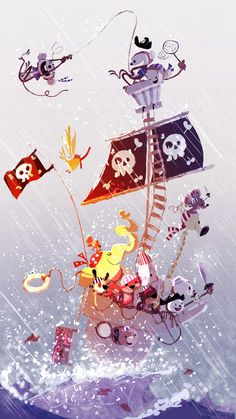 pirate wall poster for kids