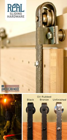 Hammered sliding barn door track hardware is hand-forged by a local blacksmith in Gig Harbor Washington. Barn Door Track, Barn Doors, Sliding Doors, Diy Barn Door Hardware, Metal Barn, Farmhouse Decor, Industrial Farmhouse, Creation Deco, The Doors