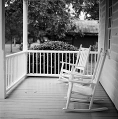 front porch rocking chairs on a summer's day :)