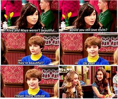 "#GirlMeetsWorld 1x09 ""Girl Meets 1961"" - Smackle. Farkle, Maya and Riley"