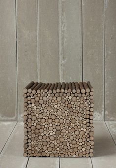 Contemporary solid wood stool - TWIG - PINCH