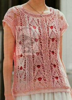 Tina's handicraft : sleeveles crochet shirt