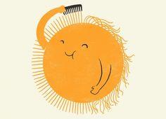 Le soleil se brosse
