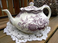 Crown Ducal Bristol Mulberry Transferware by TheVintageTeacup on Zibbet Vintage China, Vintage Tea, Vintage Dishes, Shabby, Teapots And Cups, Teacups, China Tea Cups, Tea Art, My Cup Of Tea