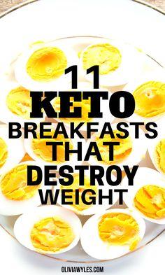 Best Keto Breakfast, Healthy Breakfast Recipes, Healthy Recipes, Healthy Diet Meals, Fun Breakfast Ideas, Best Low Carb Snacks, Keto Breakfast Muffins, Healthy Low Carb Breakfast, Best Keto Meals