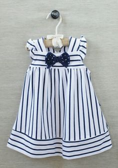 Beach portrait clothing Sailor Girl Striped Dress at Little Girl Outfits, Little Girl Fashion, Little Girl Dresses, Toddler Outfits, Baby Girl Dresses, Baby Dress, Vintage Girls Dresses, Fashion Kids, Moda Kids