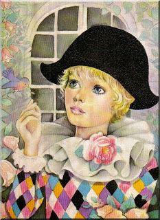 ΕΥΤΥΧΙΣΜΕΝΑ ΠΑΙΔΙΑ: Η ΙΣΤΟΡΙΑ ΤΟΥ ΑΡΛΕΚΙΝΟΥ Gothic Fantasy Art, Fantasy Images, Betty Boop, Clown Paintings, Pierrot Clown, Harlequin Pattern, Send In The Clowns, Vintage Circus, Pictures To Draw