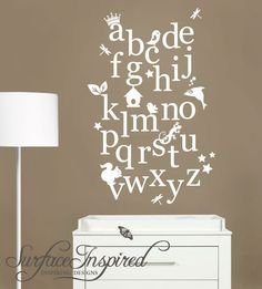 Nursery Wall Decal Alphabet Wall Decals possibly for The Garden of Read'n