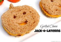 Grilled cheese jack-o-lanterns / 26 Healthy Halloween Snack Hacks (via BuzzFeed Community)