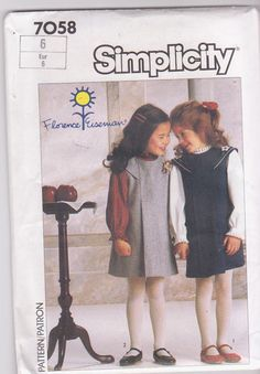Vintage 1980s pattern for girls pleated jumper by beththebooklady, $4.99