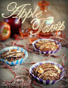 Ταρτάκια μήλου ολικής αλέσεως και βρώμης , χωρίς ζάχαρη , βούτυρο και αυγά. Συνταγές για διαβητικούς Sofeto Γεύσεις Υγείας Healthy Desserts, Ants, Sugar Free, Cereal, Muffin, Sweets, Fruit, Breakfast, Food