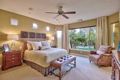 Perfectly Staged Master Bedroom.  #goodstaging