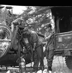 Refuelling a helicopter in 1966
