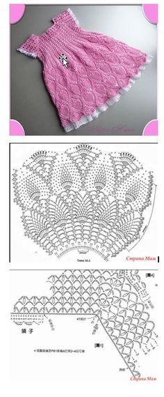 Very nice crochet.. baby dress