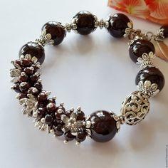 Купить Браслет из граната. Браслет из натуральных камней - браслет, браслет из натурального, браслет из граната