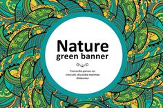 Floral green banners and patterns abstract background banner decoration flora floral flowers foliage green leaf leaves nature organic ornament pattern plant texture tree decorative design
