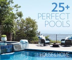 Take the plunge and create a chic outdoor oasis with ideas from our Perfect Pools gallery! | House & Home | Photo by Joe Schmelzer
