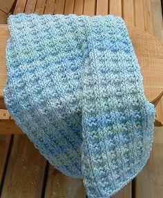 Ravelry: Basket Rib Hand Towel knitting pattern with cotton yarn