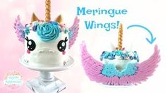 Today I am showing you how I made this BEAUTIFUL unicorn cake with these awesome meringue wings! Swiss Buttercream, Buttercream Cake, How To Make Meringue, Unicorn Wings, Black Fondant, Dessert Boxes, Little Pony Party, Gateaux Cake, Salty Cake