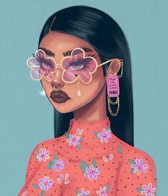 Sassy Wallpaper, Bad Girl Wallpaper, Black Love Art, Black Girl Art, Cartoon Styles, Cartoon Art, Copic Marker Drawings, Drawings Of Black Girls, Black Girl Cartoon