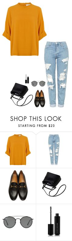 """Untitled #1137"" by h1234l on Polyvore featuring Topshop, Gucci, Ray-Ban and Marc Jacobs"