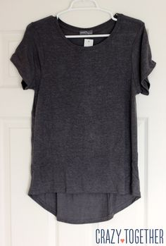 Sam Hi-Lo Short Sleeve Tee in gray from Stitch Fix. Great piece to dress up or down with extra length in back. Would love to see this in my next fix.