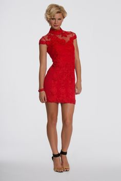 Red lace cocktail dress 2016-2017 » B2B Fashion
