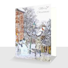 Snowmen on Steep Hill Lincoln Luxury Christmas Card, Greetings Cards Online Very Merry Christmas, Christmas Cards, Unique Cards, White Envelopes, Snowman, Card Stock, Original Paintings, Greeting Cards, Texture
