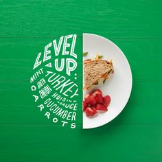 What if happens you combine handlettering with some nice and fresh food? Of course, a split plate. This project was made by Thomas Price. Food Graphic Design, Food Poster Design, Logo Design, Menu Design, Ad Design, Branding Design, Food Typography, Design Presentation, Comida Latina