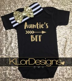 Auntie is my Bestie onesie, Baby Girl onesie, Auntie My Aunt Loves Me, baby shower gift, baby girl bodysuit, Auntie's BFF, auntie onesie by KLorDesigns