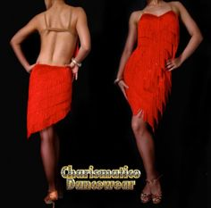 Latin Fringe Dress in Red :: Charismatico