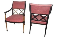 Dorothy Draper by Henredon Chairs, Pair   One Kings Lane