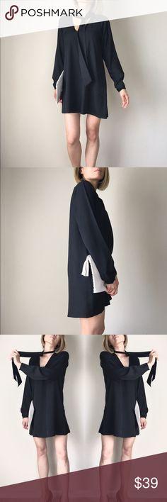 """No black tie top dress Basic chic Basic chic top dress . With lining. Well made. 100%poly . L: 32"""" B:36 w;40"""" , L: 33"""", B: 37, w; 41, L;34"""", B:37"""" , w:42"""" KC Dresses Midi"""