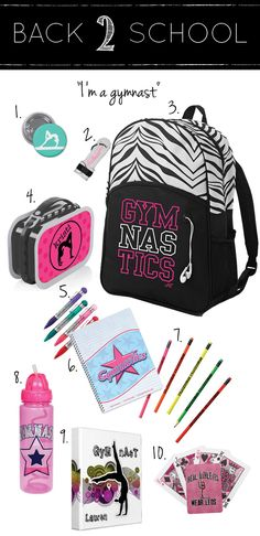 Gymnastics School Supplies | Gym Gab. I'm gonna get it next year!!!!
