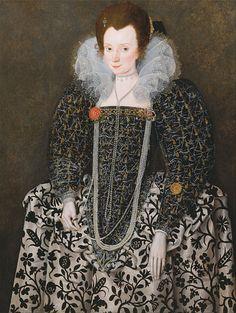 Portrait of a Lady by Robert Peake the Elder.