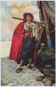 Howard Pyle    The Pirate... More red.    http://en.wikipedia.org/wiki/Howard_Pyle