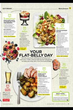 Get flat belly with these food recipes