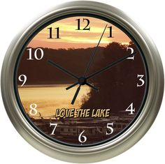 Love The Lake Custom Wall Clock. Lowest Priced Photo Clocks Online.