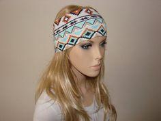 Aztec Yoga Headband Southwestern Turban Headband by OtiliaBoutique, $13.50