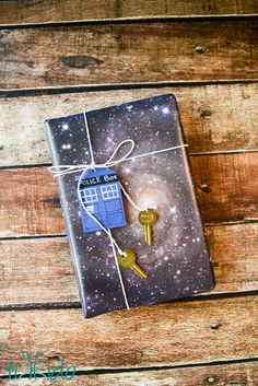Doctor Who Themed Space Gift Wrap for Books, the Perfect Gift | Tikkido.com