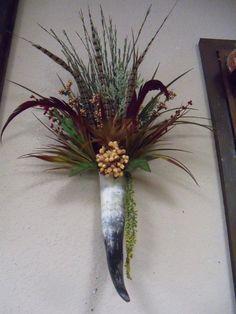 Cow Horn floral arrangement...love!