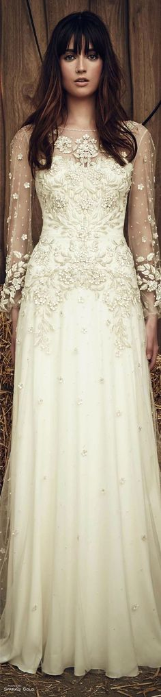 Jenny Packham Spring 2017 Bridal - Pin curated by www.thedailyfashi...