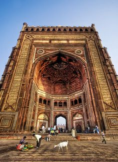 Buland Darwaza in Fatehpur Sikri, in the far north of India.