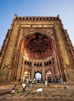 The Largest Gate in the World - Buland Darwaza, Agra, India