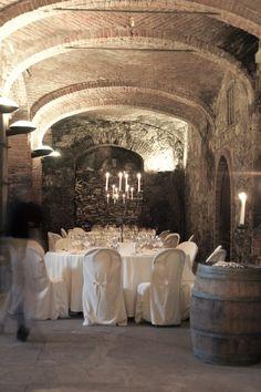 In the wine cellar.